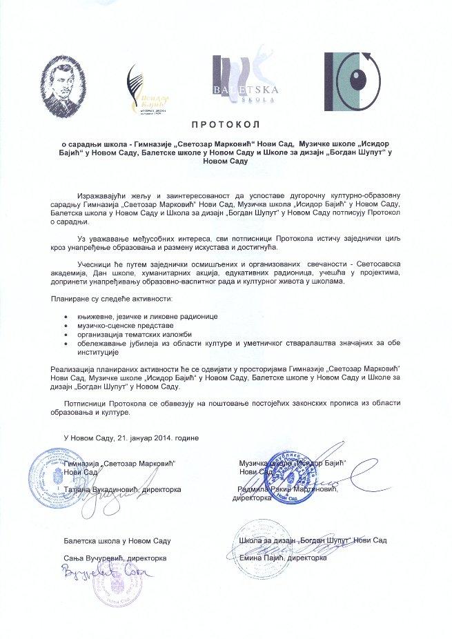 Protokol o saradnji škola