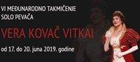 "Međunarodno takmičenje solo pevača ""Vera Kovač Vitkai"""